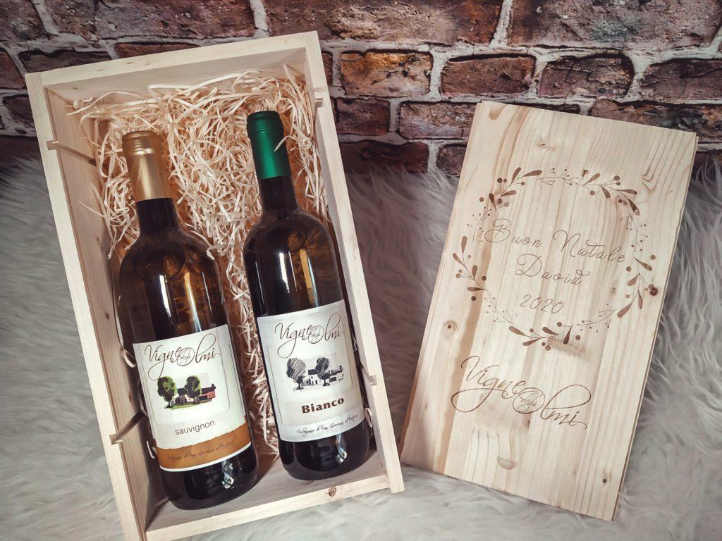 scatola di vino doppia personalizzata
